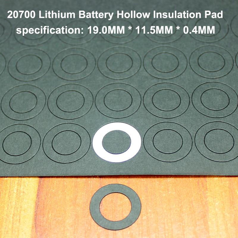 Купить с кэшбэком 100pcs/lot 20700 lithium battery PET high temperature resistant plastic positive hollow flat insulating gasket 19MM*11.5MM*0.3MM