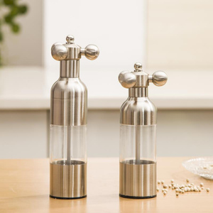 Image 2 - 1PC Stainless Steel Tap Grinder Manual Salt Pepper Mill Spice Sauce Grinder Silver Mill Tap Mills Home Use KC1504