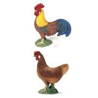 Fattoria Degli Animali Modelli Modelli Gallo e la Gallina PVC Simulazione Giocattoli Educativi Per I Bambini Regali Collezioni