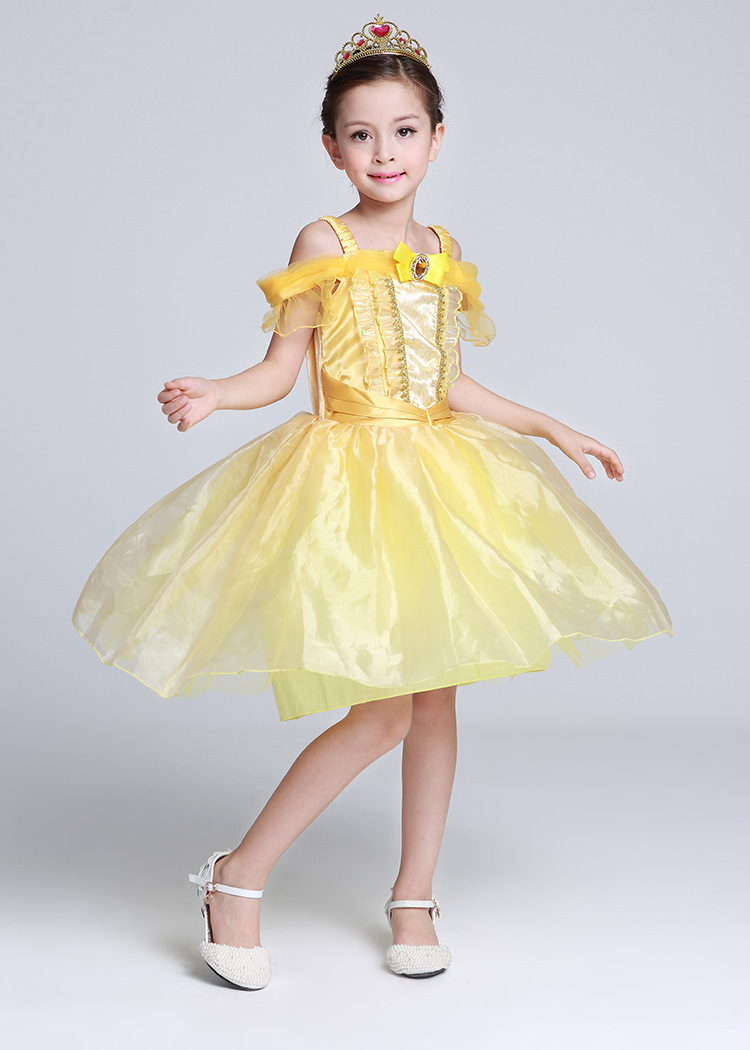 Beauty And Beast Girl Princess Bell Halloween Show Serve Foreign Trade Full Dress Cosplay