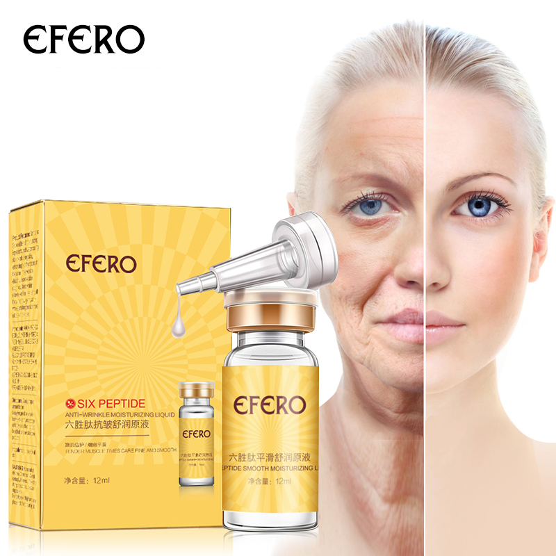 efero Argireline Liquid Collagen Six Peptides Anti Wrinkle Serum for Face Cream Whitening Firming Skin Care Instantly Ageless