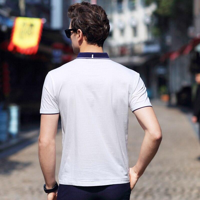 AIRGRACIAS Camisas de Polo de los hombres Slim Fit Color Sólido - Ropa de hombre - foto 4