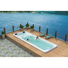 W powietrzu tą szczególną atmosferę pływanie i masaż ogród wbudowany basen cyklu filtracji masaż hydrauliczny stała temperatura tanie tanio KARICARE WS-S08B 2 osób Spa wanny Guangdong China (Mainland) Acrylic Gelcoat Massage swimming Whirlpool Massage 7840x2240x1460