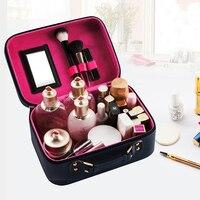 Wulekue Funcional Bolsa de Mujeres de La Manera de LA PU de Viaje Maquillaje Necessaries Cosméticos Organizador de Maquillaje Con Cremallera Bolsa de La Caja Bolsa de Kit de baño