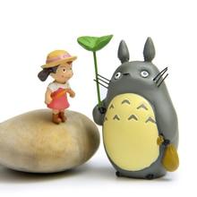Totoro Figure Toy DIY Miyazaki Hayao My Neighbor Totoro With Leaf Mei Resin Action Figure Classic Toys for Kids Christmas Gift