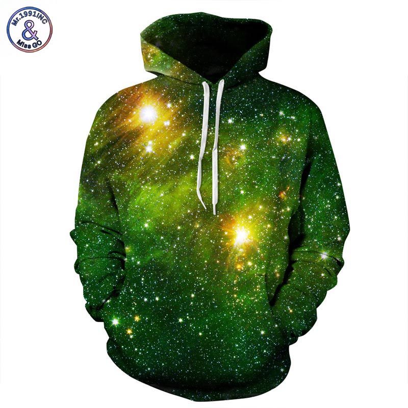 Mr 1991INC Space Galaxy 3d font b Sweatshirts b font Men Women Hoodies With Hat Print