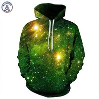 Mr 1991INC Space Galaxy 3d Sweatshirts Men Women Hoodies With Hat Print Stars Nebula Autumn Winter