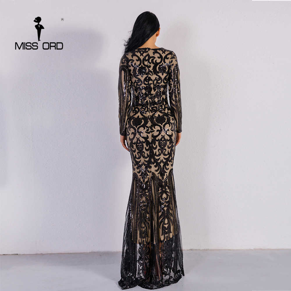 e6959926ebe Missord 2019 Sexy O Neck Long Sleeve Retro Sequin Maxi Gorgeous Dress  FT8578-2