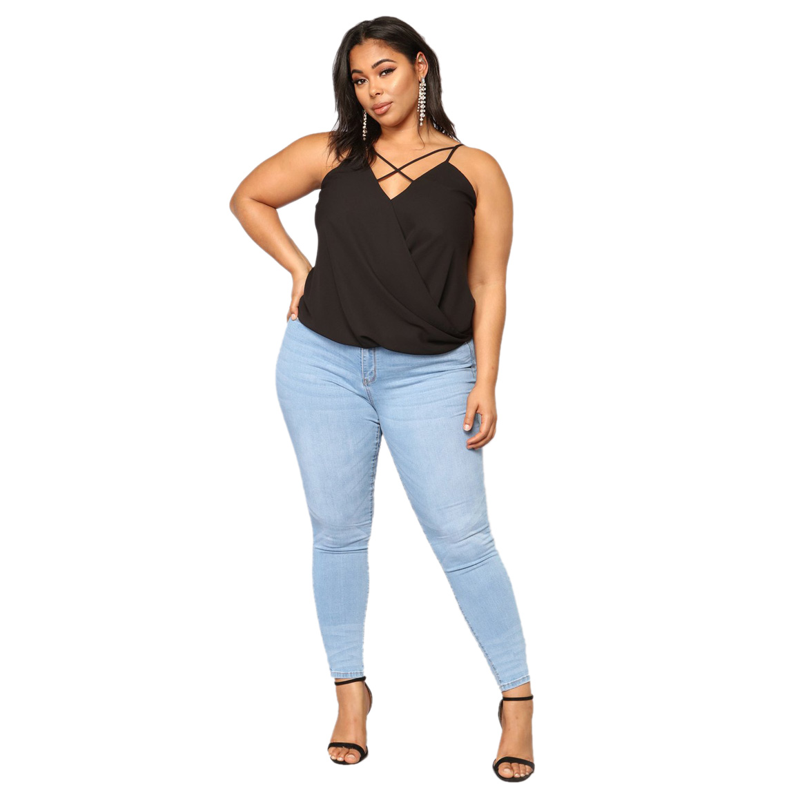 Women Fashion Plus Size Pockets Skinny Denim Pencil Pants Ladies Casual Stretch Washed   Jeans   Feet Pants Trousers Leggings