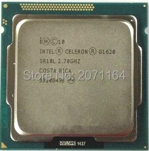 Бесплатная доставка для Intel G1620 двухъядерный 2.8 г официальная версия ПРОЦЕССОРА Celeron G1620 настольный компьютер CPU