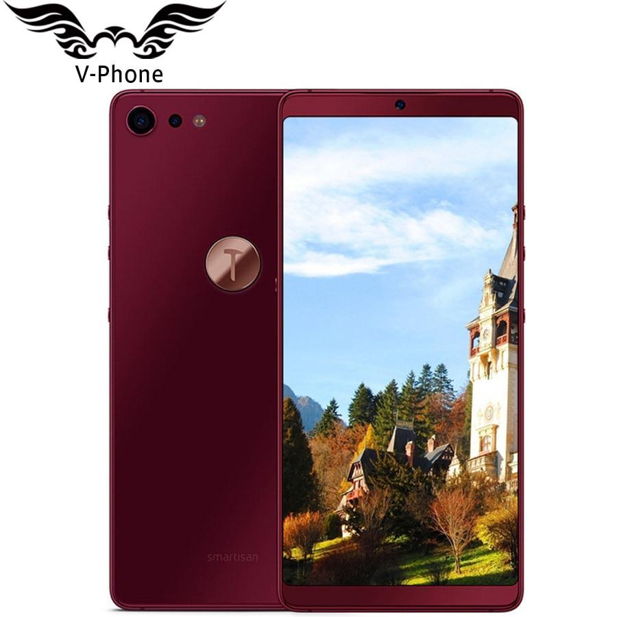 Nuovo Smartisan U3 pro Dado Pro 2 4 gb 32 gb 5.99 ''2160x1080 a Schermo Intero Snapdragon 660 octa Core faccia ID Impronte Digitali del telefono Mobile