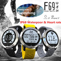 IP68 водонепроницаемый бассейн smart watch F69 android и ios Heart Rate Monitor Пульсометр Часы xiaomi телефоны health tracker