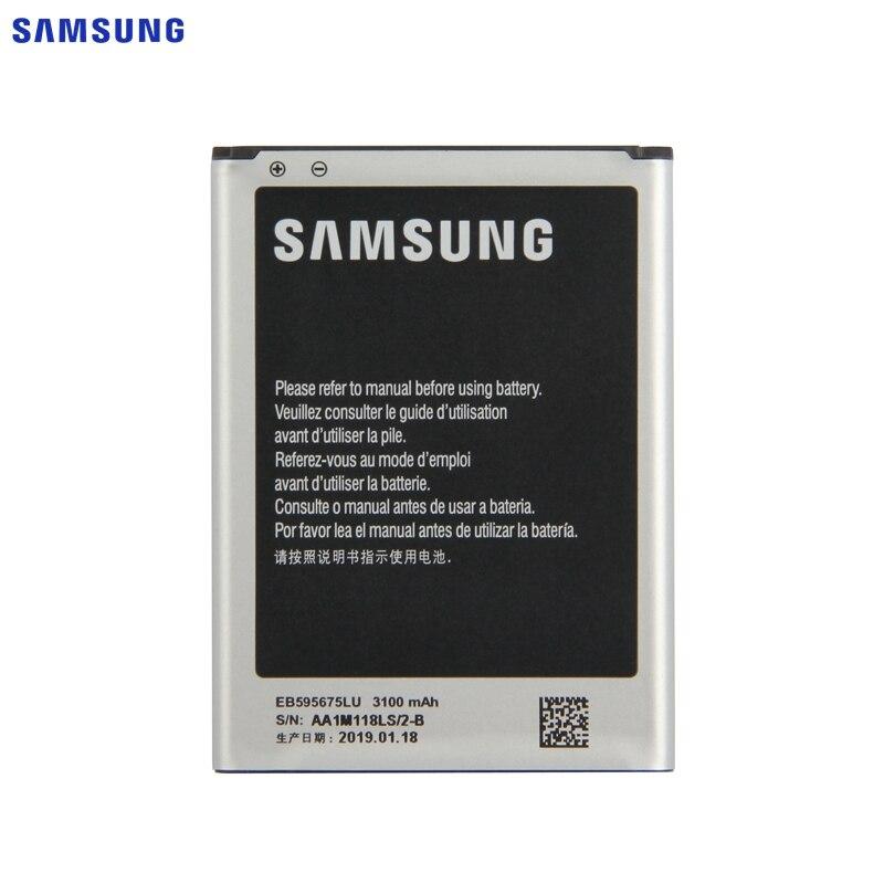SAMSUNG Original Battery EB595675LU For Samsung Galaxy Note 2 N7100 N7102 N719 N7108 N7108D NOTE2 3100mAh
