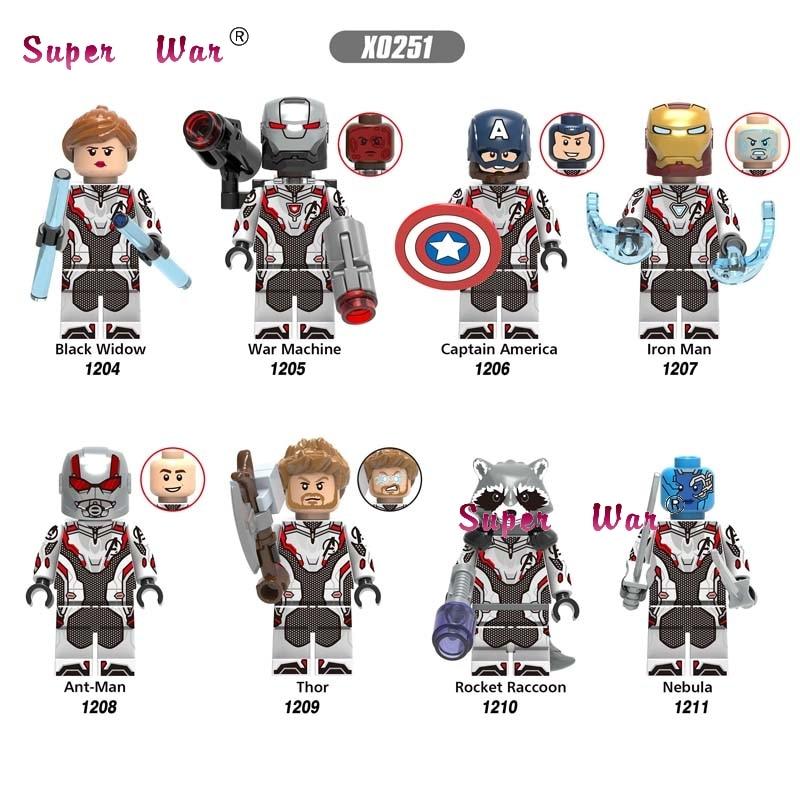 50pcs Super Hero Marvel Avengers 4 Endgame End game Quantum Suit Thor Iron Man War Machine