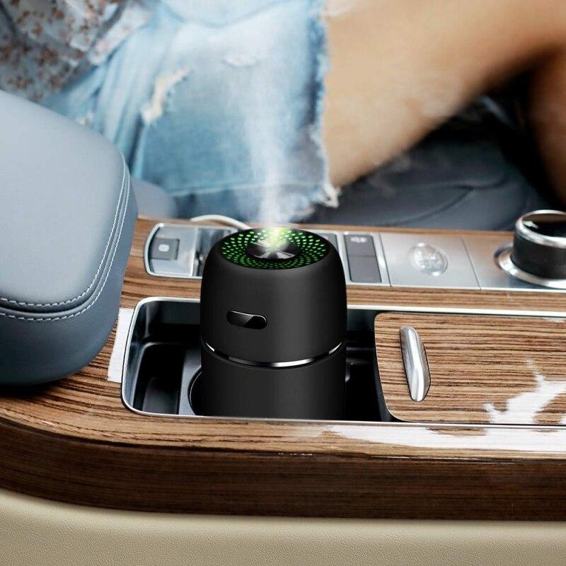 Mini humidificador de aire de coche, Humidificador purificador de aire USB portátil de escritorio para el hogar silencioso