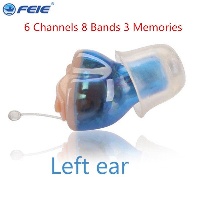 6 канальный цифровой слуховой аппарат невидимым Feie Цифровые слуховые аппараты усилитель для наушников S-16A Регулируемый тон голоса Прямая д...