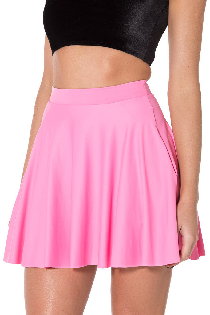 2014 Black Milk Sexy Women Short Skirt Matte Pink Pocket Skater ...