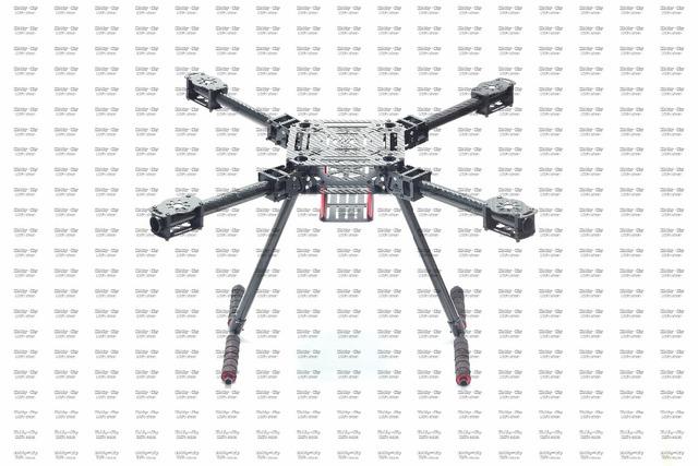 Envío libre ZD550 ZD 550 4-axis Quadcopter Juego de Estructura De Fibra De Carbono con fibra de carbono landing skid