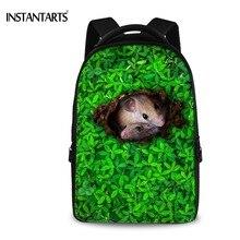Instantarts Для женщин Путешествия Рюкзаки Green Grass Симпатичные Мыши ноутбук рюкзаки для Средняя школа Колледж студентов Повседневное Daypacks