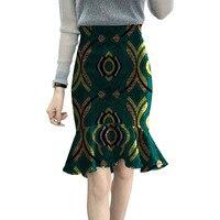 Tailored Custom Fashion African Fishtail Skirt Women Fashion Skirts Ladies Dashiki Element Africa Clothing