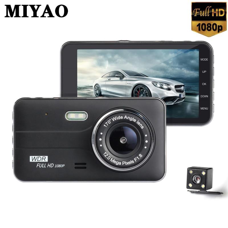 "4/"" HD 1080P 170° WDR Car DVR Dual Lens Camera Video Recorder Rearview Dash Cam"