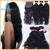 Brazilian Virgin Hair Water Wave With Lace Closure Brazilian Hair Weave Bundles 1Pc Lot Lace Closure With 3 Bundles Human Hair