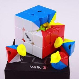 Image 5 - Qiyi את valk3 כוח m מהירות valk3 קוביית 3x3x3 מגנטי stickerless מקצועי קוביות צעצועים לילדים valk 3 m פאזל קוביית מגנט