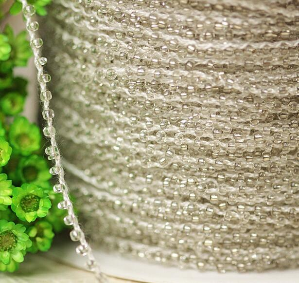 0 2CM Wide HOT cotton Embroidery White beads flower lace fabric trim ribbon DIY sewing applique collar guipure cord dress decor in Lace from Home Garden