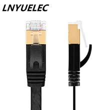 цена на Top quanlity CAT.7 network cable 10m 33ft  RJ45 Patch flat Ethernet LAN Network Cable  For Router Switch gold plated WHITE/BLACK