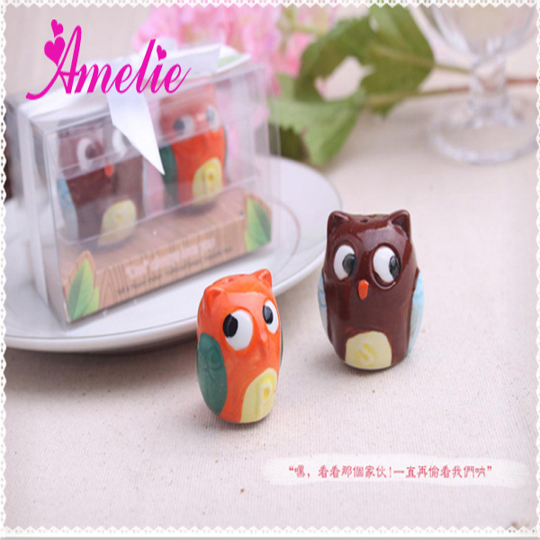 Return Gifts For Wedding Guests: 40Piece/Lot Wholesale Ceramic Table Party Gift Owl Return