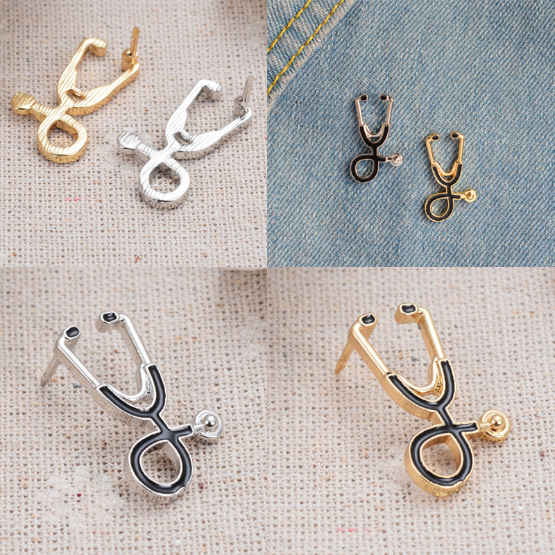 Women Brooch Men Jewelry Cool Brooch Sale Gifts Accessories Stethoscope brooch Medical brooch