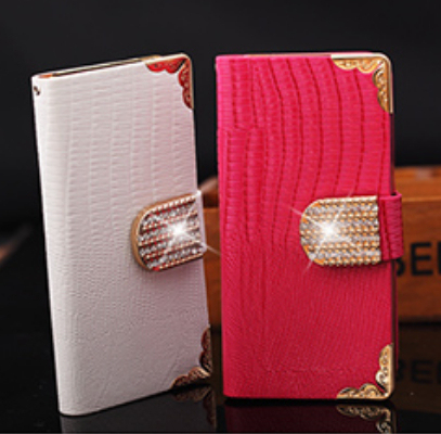 Luxury Bling Diamond Rhinestone Flip Wallet Card Holder Magnetic Leather Case Cover For iphone 4 4S 5 5S SE 6 6S Plus 7 Plus