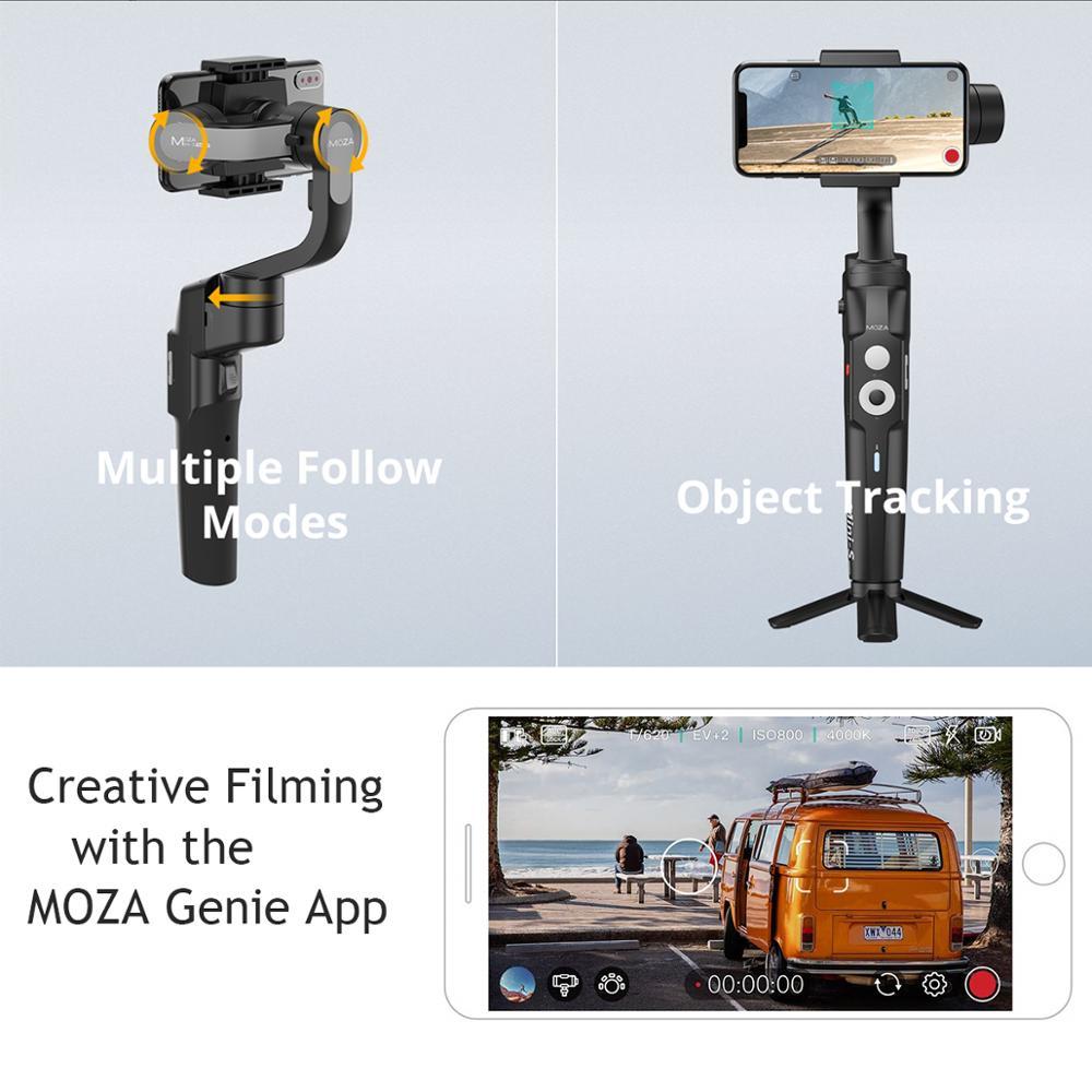 (В наличии в России) Moza Mini S складной 3 осевому гидростабилизатору Vlog стабилизатор для iPhone X 8p huawei P30 Pro GoPro 7/6/5 - 2