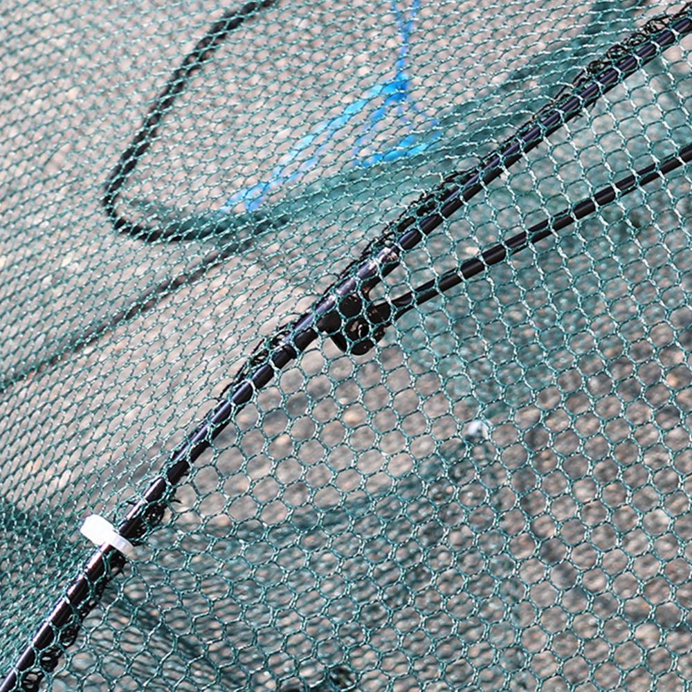 Рыболовная сетка клетка для креветок зеленая 6 отверстий сеть для ловли креветок Складная ажурная Рыбная леска для защиты от рыбок ручная рыболовная клетка