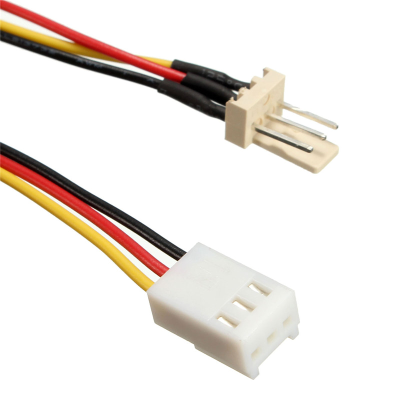 32cm PC Computer Internal Built in Fan Power Extension Cable 3 Pin ...