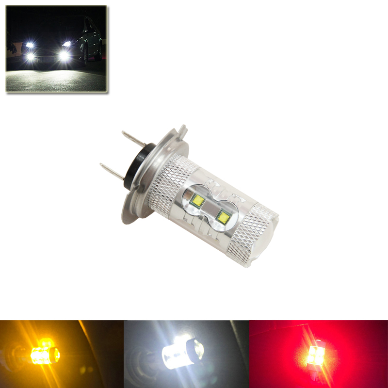 1x 50W H7 472 PX26d 10-SMD Cree Chips Led White Red Amber Color Bulbs Driving Fog DRL Lamp No Error Car Styling High Power Bulb car cob led h7 bulb fog light parking lamp bulbs driving foglight 7 5w drl 2pcs amber yellow white red ice blue