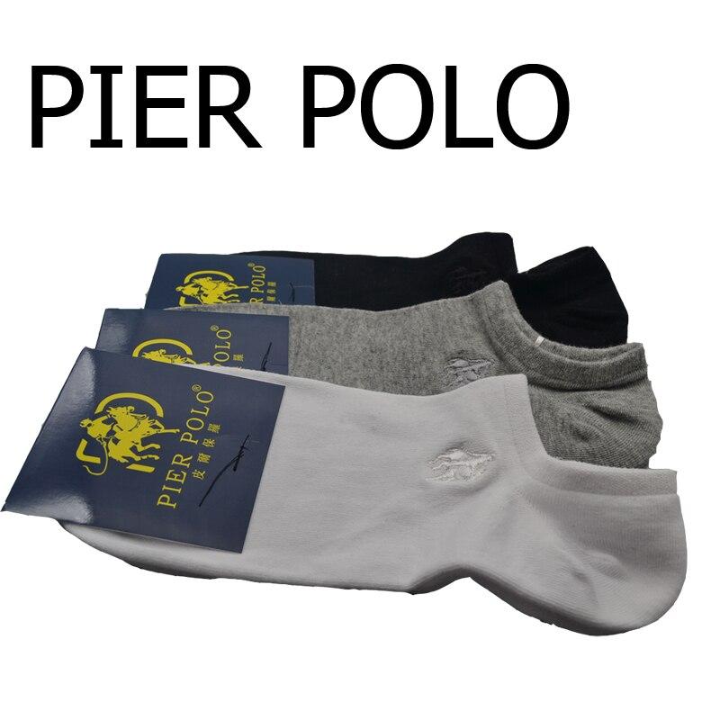 5paris/lot mens socks Pure Cotton Runner Socks Socken Embroidered ankle knitting Pier POLO Casual Business Socks Medias de los