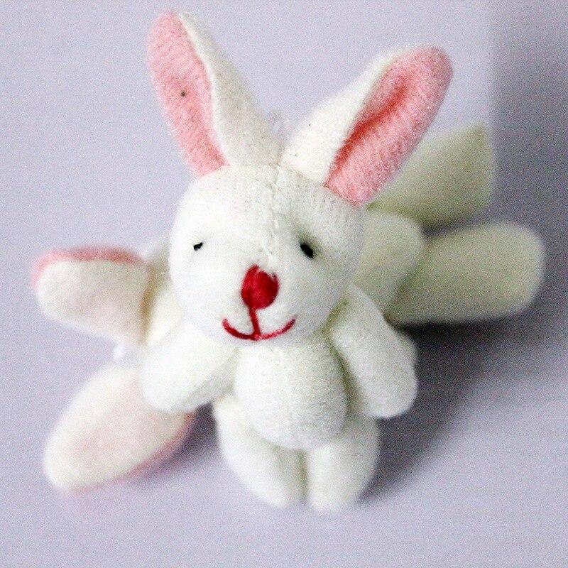 20pcs 4.5cm White mini rabbit bunny plush toy dolls stuffed wedding decor gift
