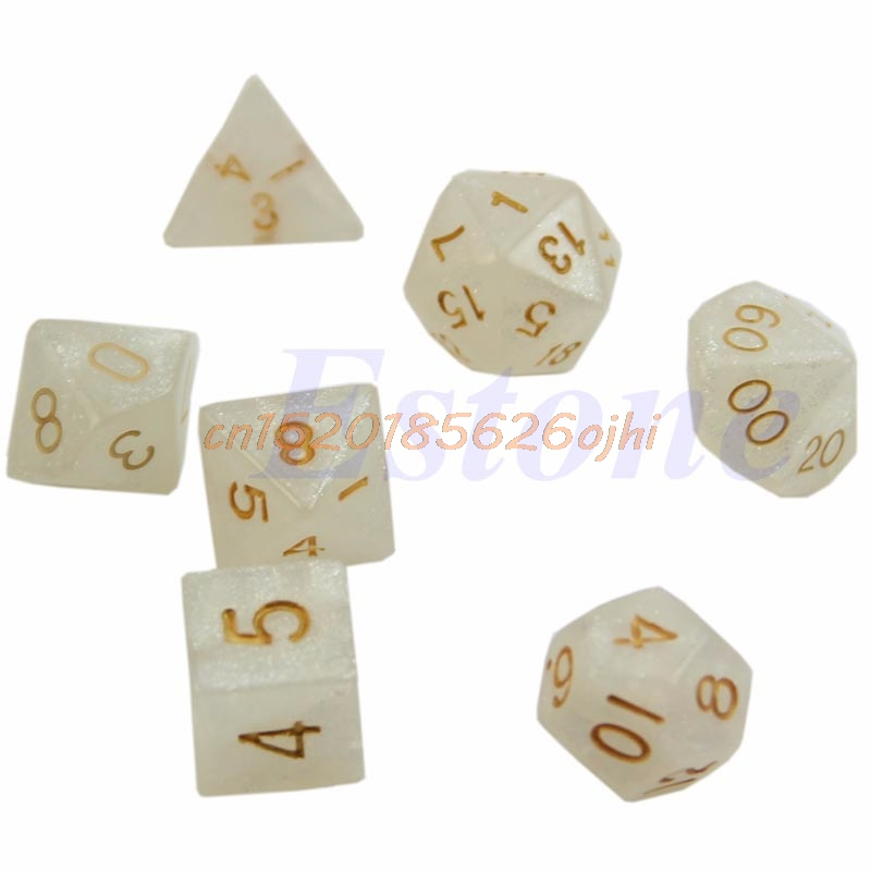 Sided Zar 7pcs Dungeons & Dragon D&D RPG Poly Oyun isti # H030 #