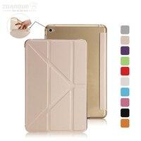 ZUANDUN PU Leather Case For Apple IPad Mini 4 Fashion Slim Multi Shapes Folding Leather Flip