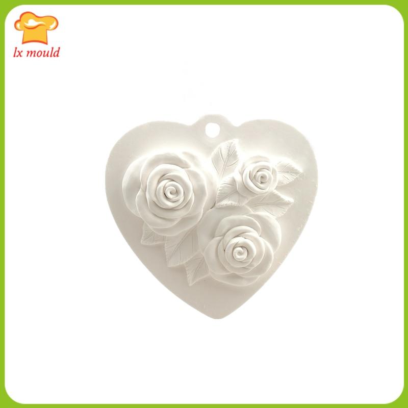 Новинка года Любовь Роза Свадебная свеча силиконовые формы для изготовления мыла ароматерапия гипсовые украшения дома силиконовые формы инструмент