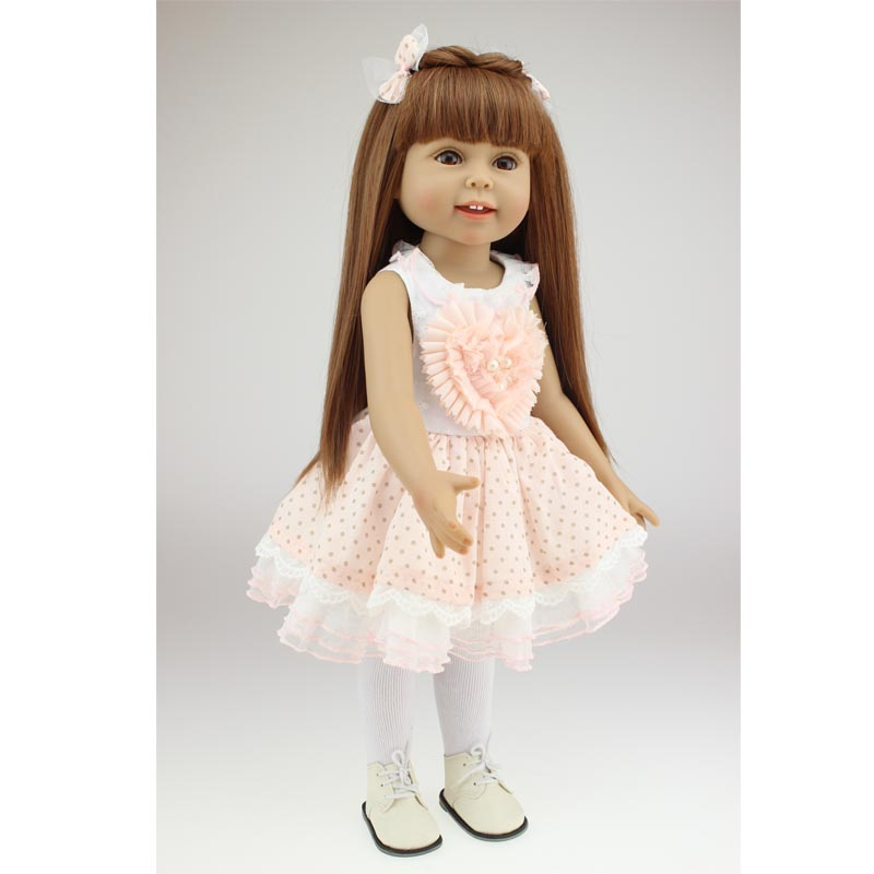 2018 Best Girl Christmas Gift Beautiful Baby Toys Handmande 18 Inch Doll American Girl [mmmaww] christmas costume clothes for 18 45cm american girl doll santa sets with hat for alexander doll baby girl gift toy