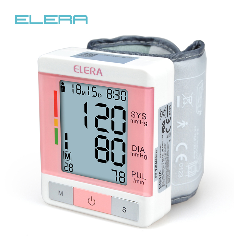 ELERA CE FDA LCD Digital Automatic Wrist Blood Pressure Monitor Tonometer Meter Sphygmomanometer Portable Tensiometro Cuff blood pressure monitor automatic digital manometer tonometer on the wrist cuff arm meter gauge measure portable bracelet device