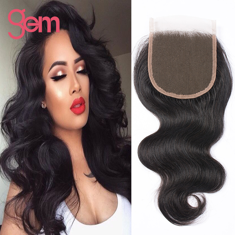 ФОТО 7A Peruvian Body Wave Closure Gem Beauty Hair Peruvian Lace Closure 4x4 Wet And Wavy Lace Closure Tissage Bresilienne Closure 1b