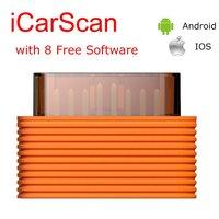 10 stks/partij launch x431 icarscan auto code reader scanner met 8 software gratis voor android/ios beter dan crp123 crp129 idiag