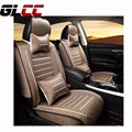 Brand New Car Seat Covers styling Luxury linen car-covers Front & Rear Complete Set for Universal 5 Seat Car Four Season 3colour