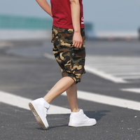 Summer Men's Army Cargo Work Casual Bermuda Shorts Men Fashion Overall Trousers Plus size Masculina Beach mma Short
