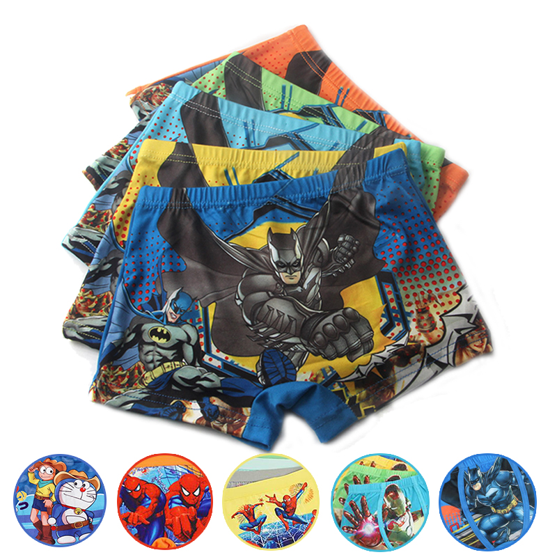 Marvel Boys Cotton Underwear Movie Comic Boxers Underpants Super Hero Spiderman Superman Kids Panties Male Under Wear Briefs