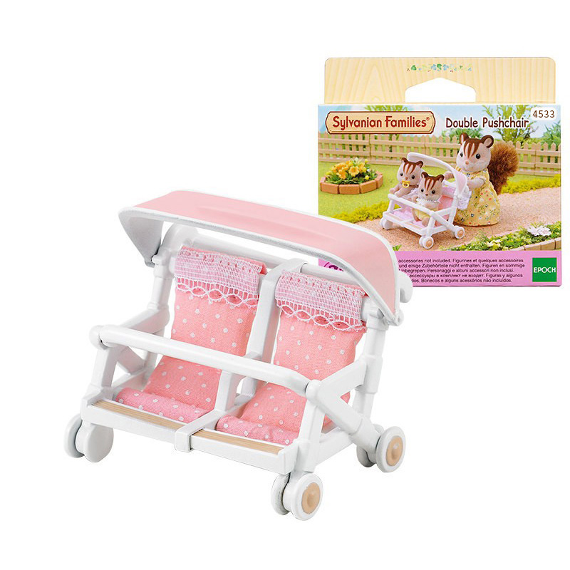 Sylvanian Families Dollhouse Double Pushchair Scence Accessories Gift Girl Toy No Figure New #4533