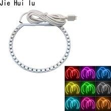 цена на 4pcs 131mm White LED CCFL Angel Eyes Halo Rings Lights Lamp For BMW E36 E39 E46 Heat and Water resistant
